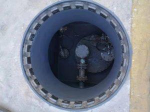操作井防渗施工后的状态 1